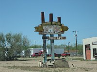 USA - Tucumcari NM - Abandoned Ranch House Cafe Neon Sign (21 Apr 2009)